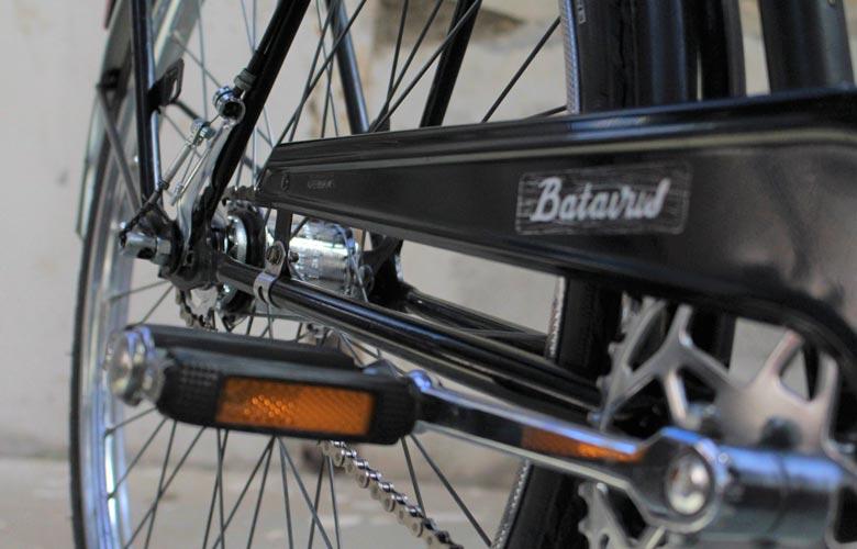 Pédalier après restauration, vélo Batavus 1980 restauré